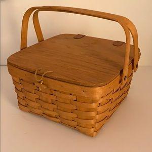 Longaberger Picnic Basket with Liner